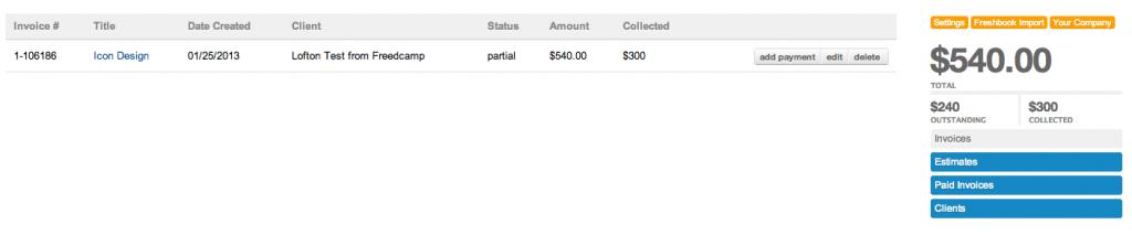 Partial Payment