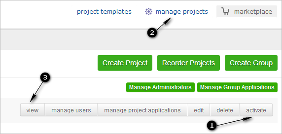Quick Tip: access inactive projects