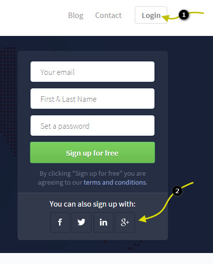 One click login to Freedcamp