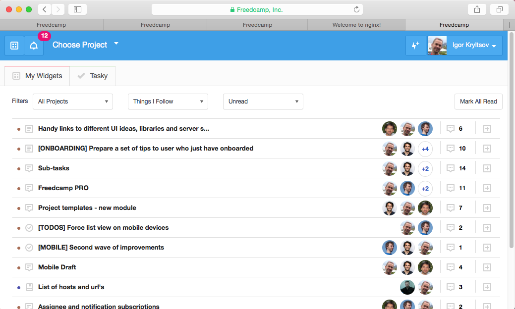 Unload Your Inbox from Freedcamp notifications 2