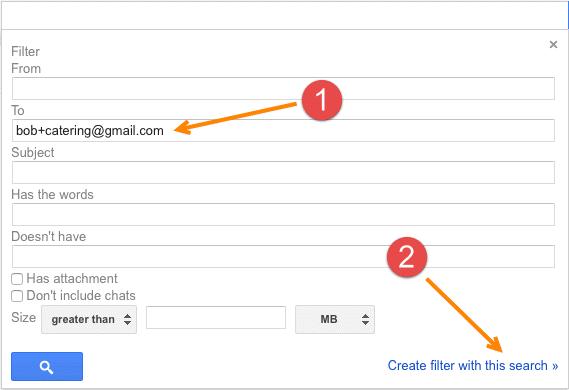 Step 1 - filter creation