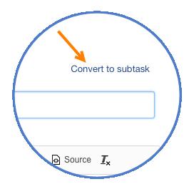 Convert to subtask
